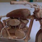 Galeri Miniatur Motor Moge Dari Kayu